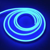 220V 네온 라이트 스트립 유연한 야외 크리스마스 휴일 요정 LED 스트립 로프 튜브 SMD 2835 120LEDS / M 스트립 램프 EU 전원