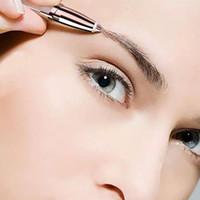 Elétrico Sobrancelha Trimmer Maquiagem Dores Ingleses Epilator Epilator Mini Shaver Braseiras Portáteis Baixas Baixas Pen Facial Cabelo Removedor