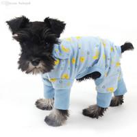 Venta al por mayor-al por mayor barato! Ropa de mansos para perros para perros Chihuahua Yorkshire Pequeño perro Ropa Pet Pijamas Puppy Cat Ropa Productos mascotas