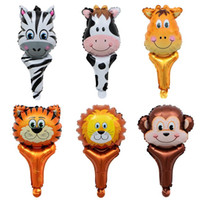 Wholesale Mini Animal Head Handheld Aluminum Film Balloon Ho...