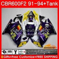 Kropp + Tank för Honda CBR 600F2 Camel Purple CBR 600 FS 1991 1992 1993 1994 40HC.121 CBR600FS 600CC CBR600 F2 CBR600F2 F2 91 92 93 94 Fairings