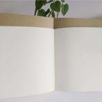 крафт этюдник крафт бежевый белый внутренний пустой бумага ноутбук дневник журнал блокноты студент эскиз книга живопись 14x14cm