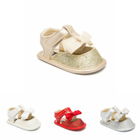 baby shoes Summer 2019 new toddler shoes bows glisten Baby G...