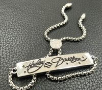 Braccialetto del braccialetto del braccialetto dell'acciaio inossidabile del braccialetto del braccialetto del braccialetto del braccialetto della serie Harley Trasporto libero Full Logistics Tracking