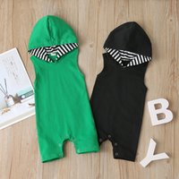 Baby Rompers Newborn Clothes Sleeveless Solid Stripes Boy Ki...
