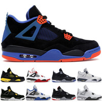 Best 4 4s High Basketball Shoes Mens Black Cat Motorsports T...
