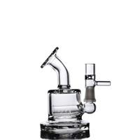 Mini Dab Rigs Downstem perc Kleines Bong Dickes Glas Bohrinseln Wasser Bongs Rauchglasrohr 8.1cm Shishas Shisha