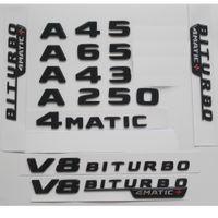 Gloss Black W176 W177 A45 A200 A220 A250 AMG 4MATIC V8 BITURBO 4MATIC + CLOCK EMBREMS EMBLEMES EMBREGES EMBLEM