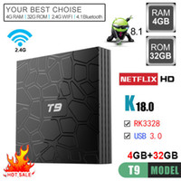 4K HD Android 8. 1 Smart TV BOX T9 RK3328 Quad Core 4GB RAM 3...