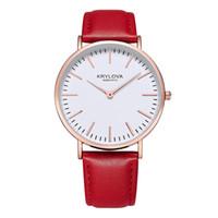 KRYLOVA Estilo de Cuero de Cuarzo Reloj de Las Mujeres de Primeras Marcas Relojes de Moda Casual Sport Reloj de Pulsera Los amantes de la Venta Caliente