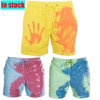 2020 Мужских Летней обесцвечивание плавки Magical Изменение цвета Пляж шорты Quick Dry купание шорты Мода Серфинг Брюки