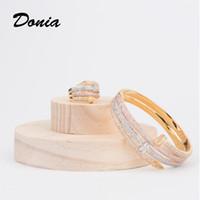 Дония ювелирные изделия роскошный браслет европейская и американская мода преувеличенные классические крупные ногти микроиннатинские Zircon браслет кольцо набор женщин дизайнерский подарок
