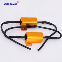 Car Lights Wire 4PCS set 25W 6ohm Load Resistor 12V Resistan...