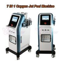 Novos 7 em 1 Israel Technology 8 Bar de Oxigênio Jet Peel água dermoabrasão Hydra Facial Microcurrent Hydradermabrasion oxgen Injector DHL