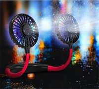 2000MAH의 축전지 내장 LED 발광 색상 램프 향수 USB 선풍기 2020 새로운 걸 목 팬 게으른 휴대용 미니 스포츠 팬
