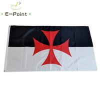 Templiers Croisés Drapeau 3 * 5 pi (90cm * 150cm) Polyester drapeau décoration bannière de vol jardin maison drapeau cadeaux de fête