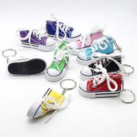 Anneau créatif Porte-clé Mini Canvas espadrille Tennis Trousseau Simulation Sport Chaussures drôle Keyring Pendentif cadeau LXL907Q-1