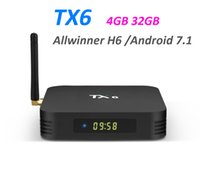 Caixa de TV Tanix TX6 Android 9.0 4 GB 32 GB DDR3 Allwinner H6 EMMC 2.4G5G WiFi Bluetooth 4.2 Caixa de TV Android