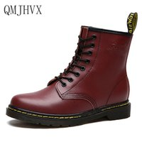 Botas Women Motorcycle Martin Boots Genuine Leather Lace Up ...