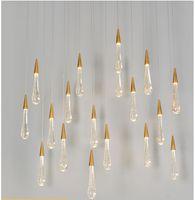 Lampe de lustre en cristal de lustre de luxe Lampe LED Pendentif léger de style européen Crystal lustre éclairage pour salon décoration de restaurant