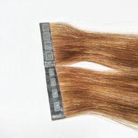 Yeni Ürün Bant Saç Uzatma Düğmesi Cilt Atkı Saç Klip Saç Uzatma Basın-Tipi, Hızlı Giymek Yüksek Kaliteli Çift Çizilmiş