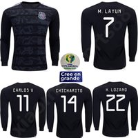 Jersey de football 2019 Copa America 19 20 Chicharito Camisetas de futbol H.Lozano G.Dos Santos Guardado Homme Football de football à manches longues