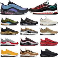 Seul neon koşu ayakkabıları 1997 stil 97S OG ÜÇLÜ siyah erkek siyah beyaz Phantom güney plaj gümüş kurşun erkekler kadınların spor ayakkabılar eğitmen undftd