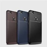 La fibra de carbono Protección de TPU Teléfono Cubiertas a prueba de golpes de enfoque automático casos de teléfono para Iphone Samsung Xiaomi Huawei LG OnePlus