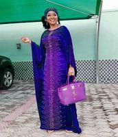 Designer Designer Maxi Abiti Pesante Fornitura transfrontaliera di perline di seta allentata Plus Un processo di perforazione con cappuccio con cappuccio stile musulmano
