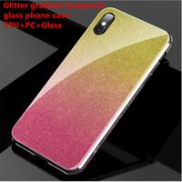 للحصول على اي sansung قضية الهاتف الزجاج هواوي حالة بريق التدرج خفف عن iphone11 سامسونج Note9 S10 بالإضافة إلى هواوي Mate30 الغطاء الخلفي P20