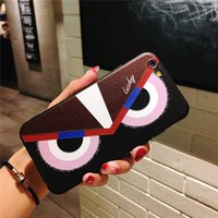 Mytoto moda animais coruja caso capa little devil big eye case para iphone 6 6 s plus 7 8x dos desenhos animados anti-choque de volta shell