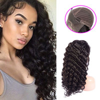 Cabelo virgem malaio 13x4 perucas dianteiras de renda profunda 14-32inch banda ajustável pré arrancada cabelo humano perucas de renda profunda onda