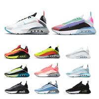 موضة 2090 الاحذية للرجال والنساء القادمون الجدد بطة كامو النقي البلاتين الأسود الأبيض الرجال المدربين الرياضية حذاء رياضة حجم 36-nike air max  45