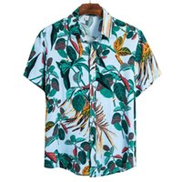 2020 Summer Mens Shirts Hawaiian Fashion Print Short Sleeve ...