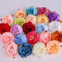 인공 실크 모란 꽃 홈 파티 웨딩 용품 시뮬레이션 가짜 꽃 헤드 DIY 화환 벽 아치 밑의 통로 TTA2119 헤즈