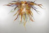Salon Dekorasyonu için Cam kolye lambalar Üflemeli Zhongshan Üretici Cam Avize Aydınlatma Yüksek Tavan Dekorasyon