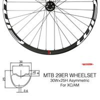 OEM MTB العجلات 29ER العجلات الدراجة الجبلية 27mm وXC عرض الكربون عجلة hookless عجلات المواضيع المتميزة مع Novatec محور العجلات 29ER قبالة عجلات الطريق