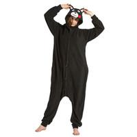 2019 Hayvan Unisex Yetişkin Kahverengi Ayı Pijama Karikatür Flanel Kumamon Kigurumi Onesies Cosplay Kostümleri Tulumlar En Iyi Hediye