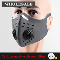 في سوق الأسهم المضادة للضباب PM2.5 تنفس الدراجات قناع الوجه التدريب الرياضى مكافحة التلوث تشغيل قناع مع فلتر الكربون المنشط مع صمام