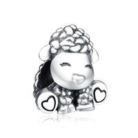Valentinstagsgeschenk 100% 925 Sterling-Silber-Schmuck Patti Die Schaf-Charms Perlen für DIY europäische Marke Charm Armbänder Fine Schmuck