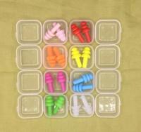 1000pairs Silikon Earplugs Swimmers weiche und flexible Ohrstöpsel für Reisen Schlafgeräusche Ohrstecker 8 Farben reduzieren
