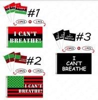 يحدد 90-150CM أمريكانا لافتات واليد الإشارة العلم رسائل مطبوعة أنا لا أستطيع التنفس FLAG تصميم جديد أسود الأرواح MATTER موكب أعلام D6413