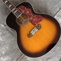 أفضل الآلات الموسيقية الجديدة مخصص J200 مقابل الغيتار الصوتية في الأسهم شحن مجاني