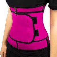 في المخزن! ملابس داخلية للتنحيف الجسم الخصر المدرب النساء سليم للياقة البدنية Cincher الخصر حزام Shapewear زائد الحجم FY8089