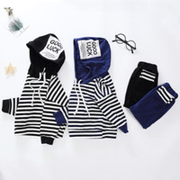 Boutique Boys clothing set Outfits Casual Letters Striped Ho...