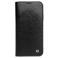 Kart Yuvaları Pocket ile Apple iPhone 11 Ayaklı Kılıf için QL Lüks Gerçek Deri Telefon Kapak