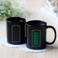 Batteria Magia Mug positivo colori Energy cambia tazza di ceramica di sbiadimento del tè del caffè latte tazze della novità preferita regali