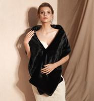 MaggieisaMazing Großhandel Gefälschte Faux Pelz Hollywood Glamour Fashion Cover Up Cape Günstige Bridal Wraps Jacken CYH0PJ18104