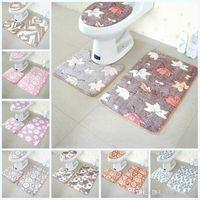 New verdicken Coral Fleece Teppich Bad Memory Foam Teppich Klassische Toilette Dekor-nicht Beleg-Wasser-Absorptions-Matten Mesh-21 5ol