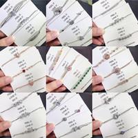 Luxus-Designer-Schmuck Frauen Armbänder lieben Charm Armband Modemarke Strass hohe Qualität Vergoldetes Silber Großhandel Schmuck